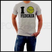 Roger Federer I LOVE FEDERER T-shirt men short sleeve Cotton Lycra top new arrival Fashion Brand t shirt for men 2013 summer