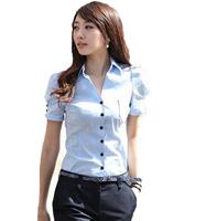 2013 summer slim waist ol work wear fashion V-neck women's short-sleeve shirt shirt