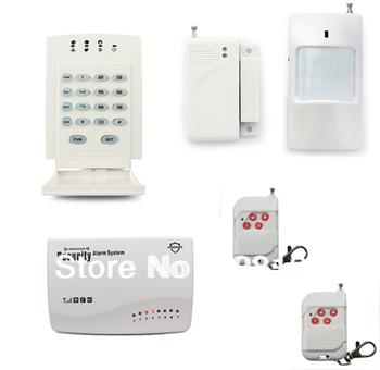 P87 G11 Wireless GSM 850/900/1800/1900MHz Home Intruder Burglar Alarm System Intelligent For Security + Wireless Password Keypad