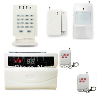 P80 K3 Wireless PSTN Phone Cable Autodial Alert Home Intruder Alarm System 433MHz Frequency + Wireless Password Keypad