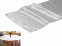 """Sep Sale Free shipping  20 pieces 12""""x108"""" White Satin Table Runner Wedding Party Banquet Decoration"""