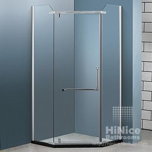 Achetez en gros salle de bain cloison de verre en ligne for Porte de douche sans cadre