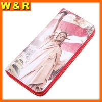 designer waterproof zipper woman wallet wrist clutch purse free shipping