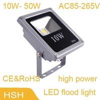 AC85V~265V Waterproof LED Flood Light Lamp 10W 20W 30W 50W LED Floodlight  cob Outdoor Light free shipping