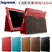 Free Shipping For apple   joyroom ipad4 protective case ipad2 ipad3 protective case genuine leather quality vintage holsteins