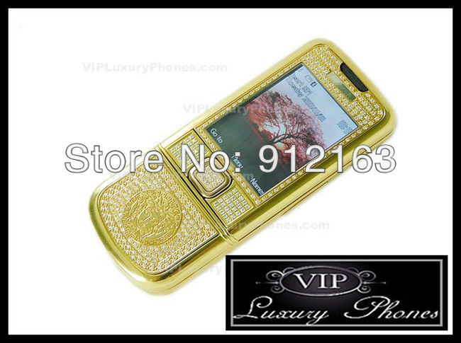 DHL/EMS FREE SHIPPING 2013 Unlocked New 8800 Arte Gold Diamond Luxury phones MP3/MP4/JAVA With BH-803 8800a Cell phone(China (Mainland))