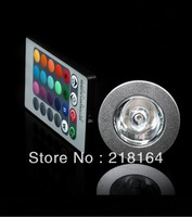 MR16 3W RGB LED Bulb Spotlight DC12V 16 Colors changing RGB LED Lamp spot down light with 24 key controller Remote Control