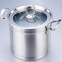 Non-magnetic stainless steel flat rectangular single multi-purpose pot after bottom multifunctional milk pan 20 cm