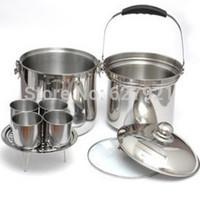 Stainless steel free fire reboiler soup pot steamer stew pot roast multifunctional cooker multi-purpose pot 138 7l
