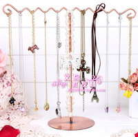 Single-row wavy Large bracelet holder necklace holder hanging rack earring holder jewelry holder props accessories rack