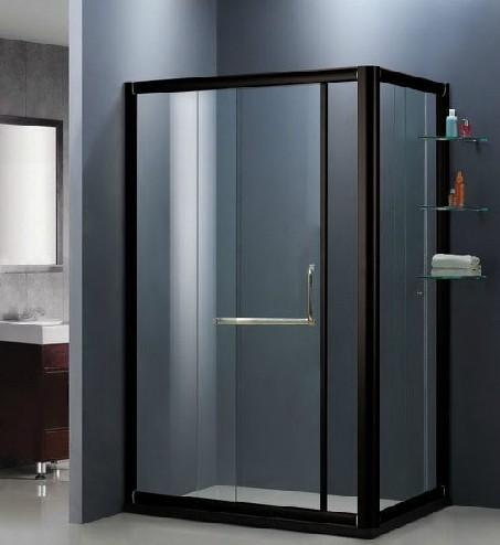 Achetez en gros porte coulissante en aluminium pour salle de bain en ligne - Cabine de douche noir ...
