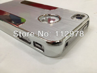 500pcs Silver Color For iPhone5  Aluminum Metal Chrome Hard Case Cover For iphone 5 Free Shipping Fedex