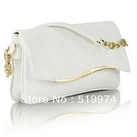 2013 white clutch women's coin purse fashion messenger bag  women's wave handbag free shipping
