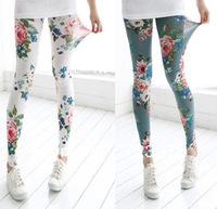Free shipping Stylish and elegant peony Western style super-stretch leggings pantyhose 3 colors