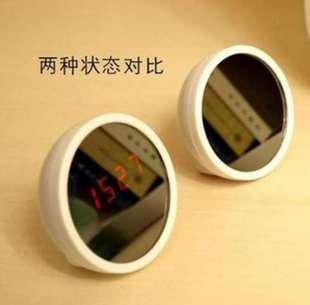 Beauty mirror alarm clock mirror led clock quieten makeup mirror clock personalized clock(China (Mainland))