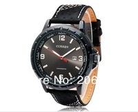NEW CURREN 8120 Men's Round Dial Analog Watch with Date Display(Black.white)Calendar watch.wristwatches+free shipping