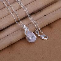Free Shipping 925 Silver fashion jewelry Necklace pendants Chains, 925 silver necklace fashion charm pendant cnql ecou