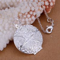 P167 fashion jewelry chains necklace 925 silver necklace silver pendant Net spend Photo Frame /akla jbsa