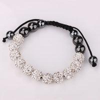 Shamballa jewelry Wholesale, free shipping, New Shamballa Bracelets Micro Pave CZ Disco Ball Bead Shamballa Bracelet epru awca