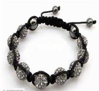 Shamballa jewelry Wholesale, free shipping, New Shamballa Bracelets Micro Pave CZ Disco Ball Bead Shamballa Bracelet vivw ctfc