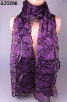 Min.order is $10 (mix order)Fashion Laced Long Soft Fre Ship Scarf Wrap Shawl Stole For Swell Ladies SJ0288