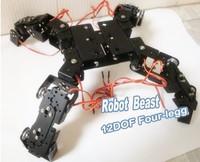 Aluminium Robot Beast Mount Kit 12 DOF Four Legg for Arduino Compatible