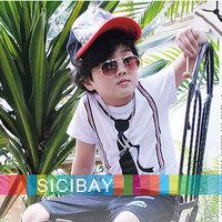 Free Shipping Korea Style Kids Clothing Boys Tie Tshirt,Children's Tshirts K0121