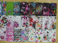 Wholesale 100pcs/lot New Fashion Butterfly Flower TPU Soft Gel Rubber Zebra LoVE Back Cover Case For iPhone 4 4G 4S
