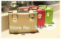 New Arrival Candy Colors Handbags Vintage One Shoulder Bags Double Hasp Mini Bags Messenger Bags