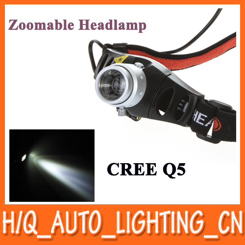Ultra Bright Cordless Mining CREE Q5 LED Lamp Head light /Torch Headlamp, Zoomable for Camping and Hiking Hunting, Free Shipping(China (Mainland))
