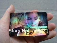 2013 Fashion PVC card, color change, laser anti-false cards. 0.38mm, hologram card, free shipping by DHL/FedEx/Aramex