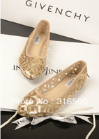 Best Selling!!Elegant gladiator paillette cutout flat pointed toe single shoes Free Shipping