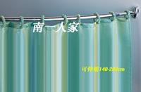 Curviplanar retractable shower curtain rod bath bar adjust the casualness measurement