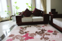 Fashion flannel butterflies slip-resistant living room carpet table mats bedroom carpet