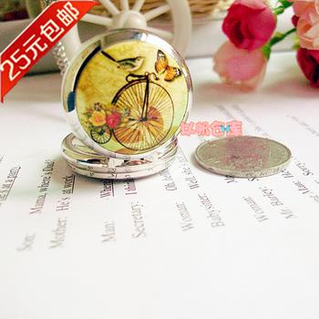 Fashion webworm women's fashion vintage pocket watch necklace gift long necklace pocket watch