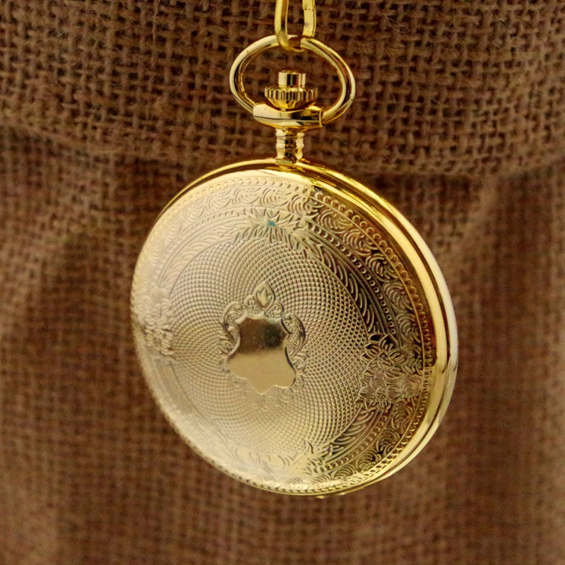 Vintage brass quality copper male women's refined quartz pocket watch seniority birthday gift