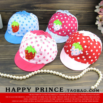 Small strawberry style mesh cap baby hat cap