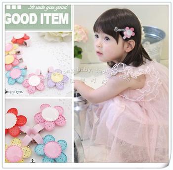 Acrylic flower hair pin little princess hairpin child hair clips princess hair accessory