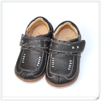 Children shoes cow muscle soft outsole leather outsole baby genuine leather toddler shoes 808