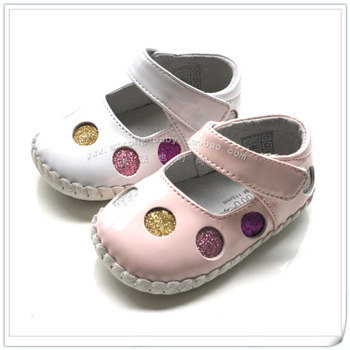 Multi-colored omn dot soft outsole female princess shoes toddler shoes indoor shoes