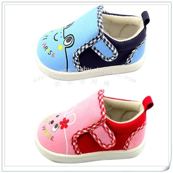 Children shoes cartoon baby canvas shoes toddler shoes soft outsole 0411
