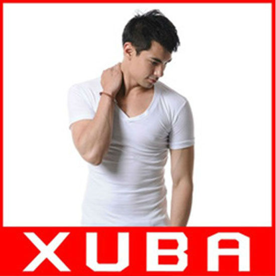 2013 New Design XUBA Brand men t shirts vest short sleeve v neck fashion 10 colors 50pcs/lot fast shipping cheap XB-201263-1Y(China (Mainland))
