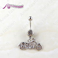 2013wholesale body jewelry, fashion navel piercing,Exquisite Harvard Motorcycle dq0142