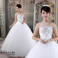 2013 wedding bling sweet fashion elegant quality qi bride wedding dress formal dress