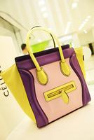 Summer fashion color block bag smiley bag one shoulder cross-body handbag