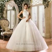 Hot-selling ! 2013 bride wedding dress formal dress sweet halter-neck behind the bandage 1101
