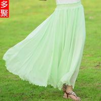2013 women's slim hip a chiffon bust skirt bohemia midguts summer high waist beach dress