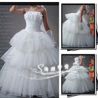 The bride wedding dress tube top wedding dress layered wedding dress hd35
