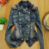 2014 New Fashion Spring Summer Autumn Winter Women denim coat outerwear short design female long-sleeve jean jacket