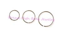 Eyebrow Nose Cartilage Ring Hoop Stud  Ear Ring Plain Steel 0.8mm 300pcs/lot Hot Sale Cheaper Ear Piercing Fashion Body